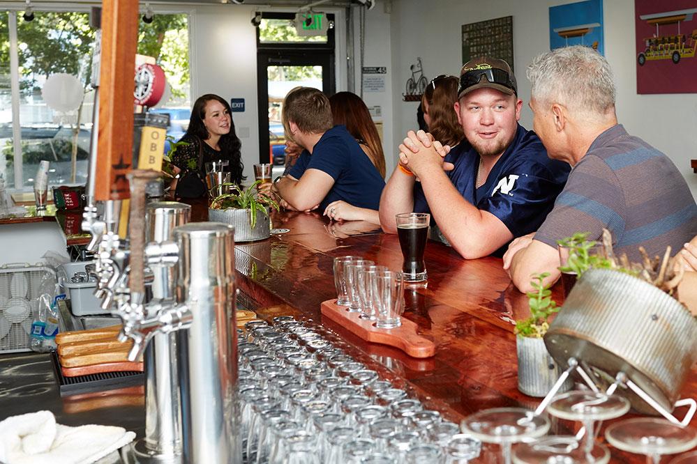 Inside view of the Sacramento Brew Bar
