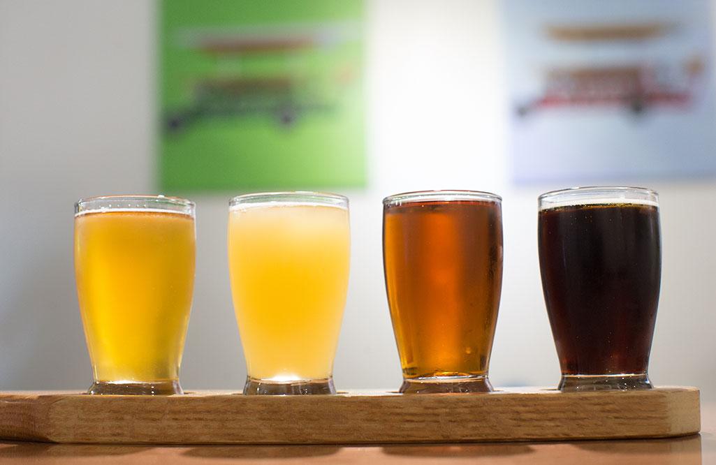 Draft beers in pints