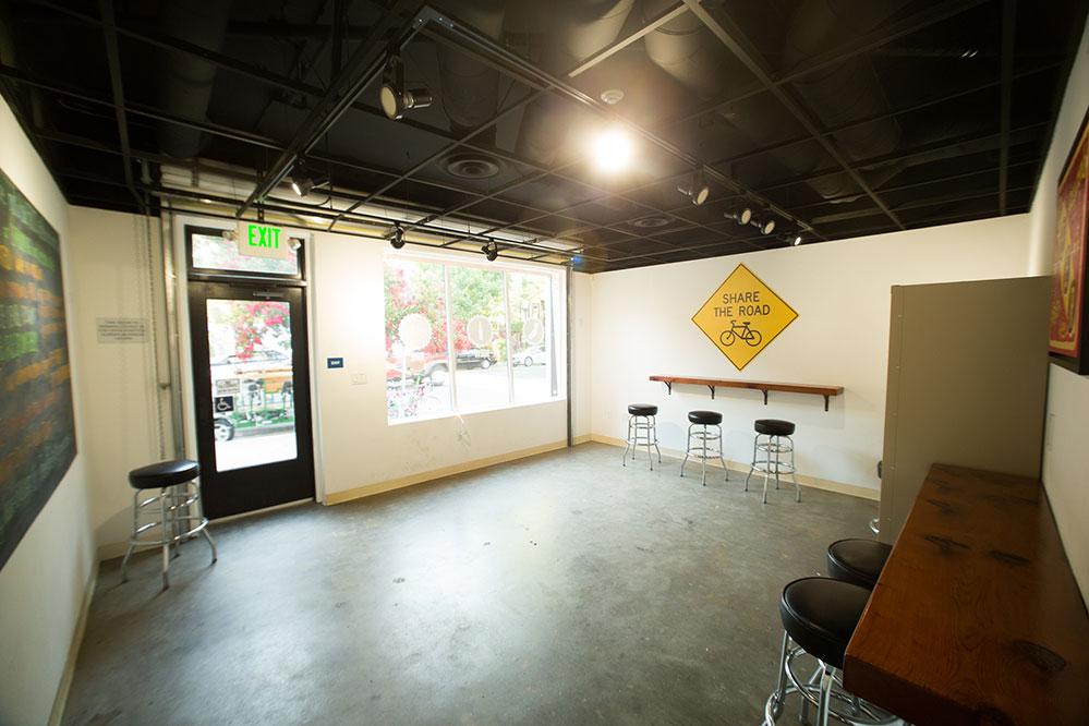 Inside of the Sacramento Brew Bar