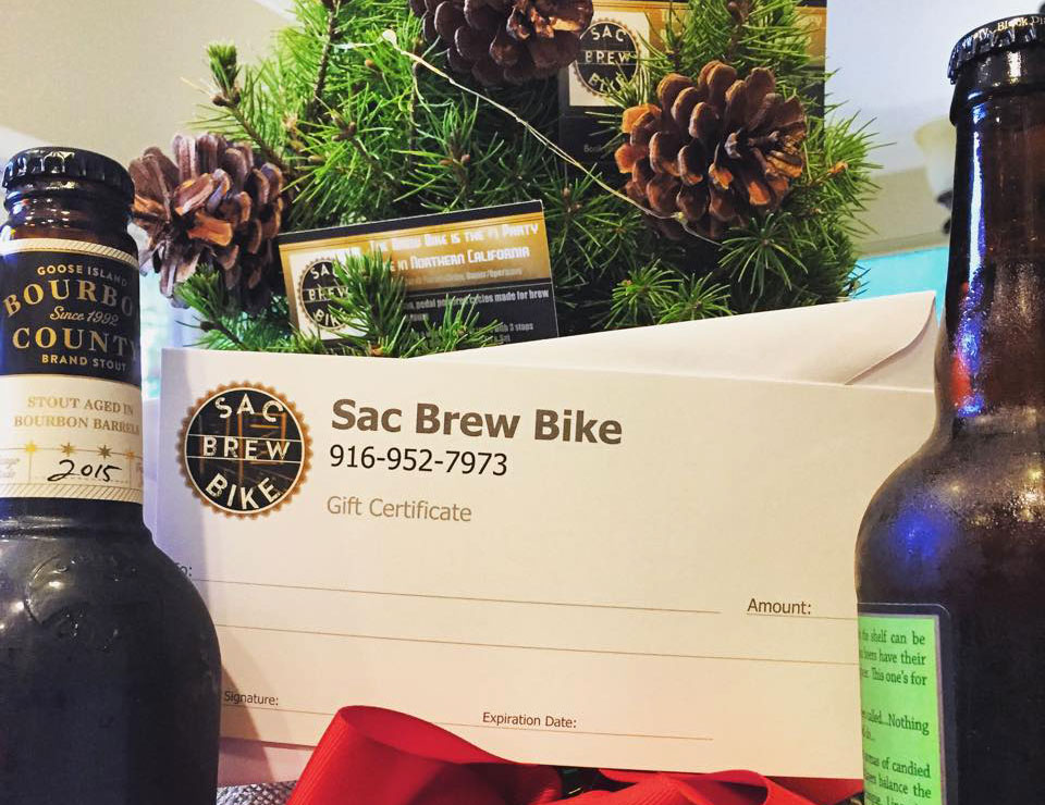 Sac Brew Bike Gift Certificates